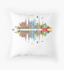 world monuments Throw Pillow