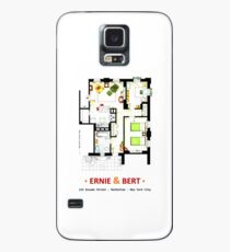 Floorplan of Ernie & Bert's apartment from Sesame St Case/Skin for Samsung Galaxy