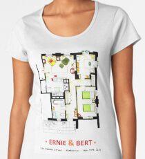 Floorplan of Ernie & Bert's apartment from Sesame St Women's Premium T-Shirt