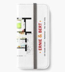 Floorplan of Ernie & Bert's apartment from Sesame St iPhone Wallet/Case/Skin
