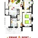 Floorplan of Ernie & Bert's apartment from Sesame St by Iñaki Aliste Lizarralde