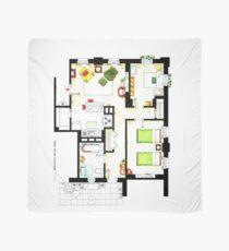 Floorplan of Ernie & Bert's apartment from Sesame St Scarf