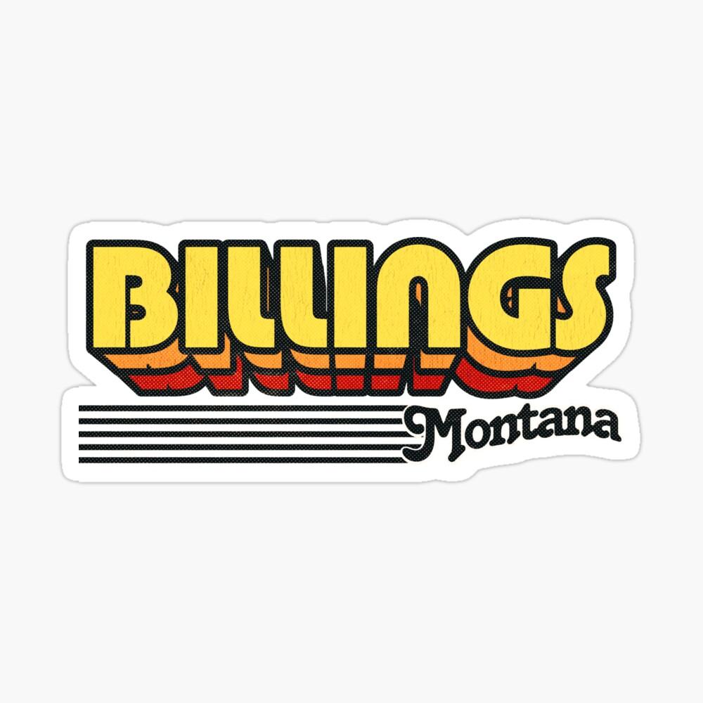 Billings, Montana | Retro Stripes Sticker