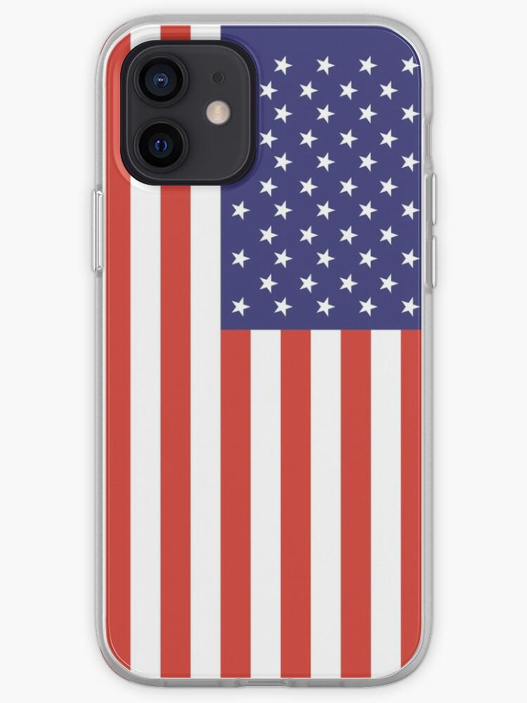 Stars & Stripes, drapeau américain, couverture complète, pure et simple, Amérique, États-Unis.   Coque iPhone