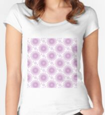 Bouquet from peony, chrysanthemum, watercolor Women's Fitted Scoop T-Shirt