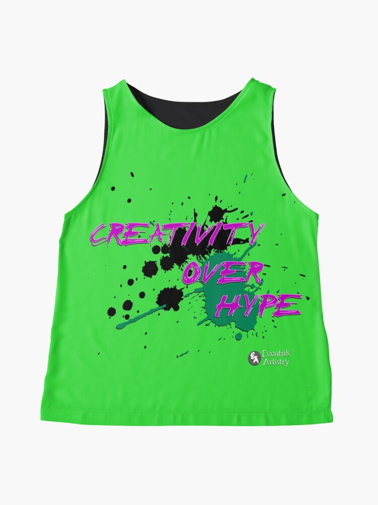Alternate view of Creativity Over Hype (Purple/Green) Sleeveless Top