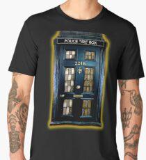 Detective Phone box with 221b number Men's Premium T-Shirt