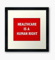 Heathcare is a Human Right Framed Print