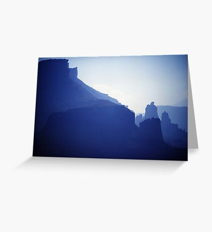 Castle Valley Silhouette Greeting Card