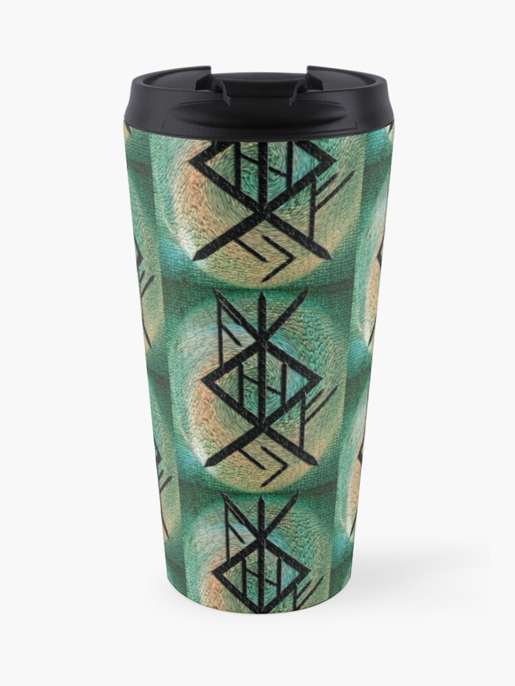 Runic Sigil for Protection, Strength, and Success | Travel Mug