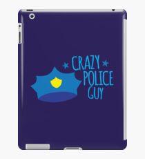 Crazy Police Guy iPad Case/Skin