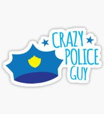 Crazy Police Guy Sticker