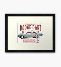 Dodge Dart Dragster Street Machine 1969 Gerahmtes Wandbild