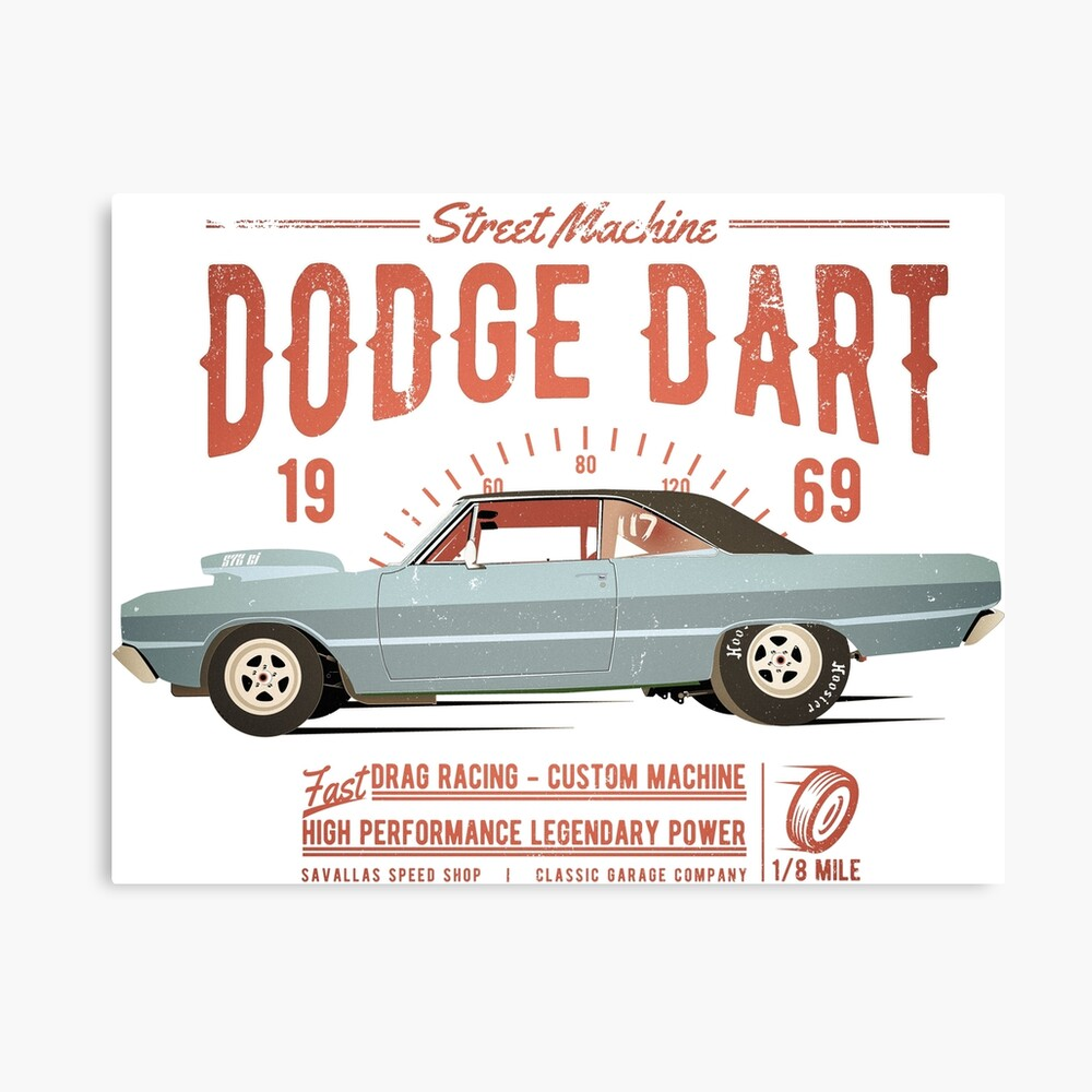Dodge Dart Dragster Street Machine 1969 Leinwanddruck