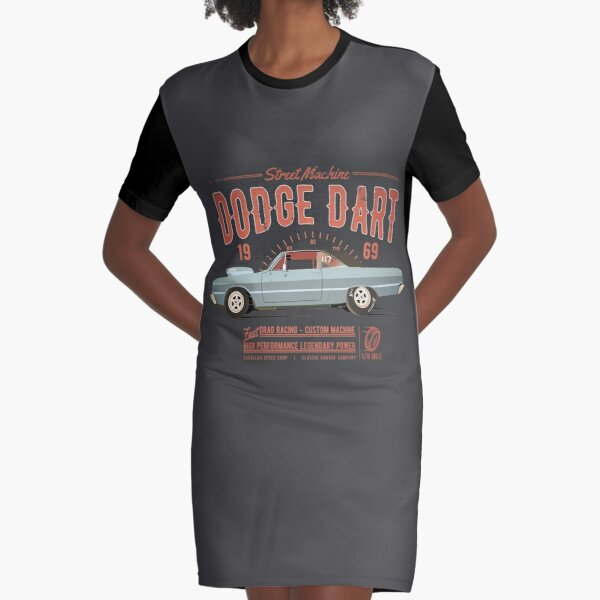 Dodge Dart Dragster Street Machine 1969 Graphic T-Shirt Dress