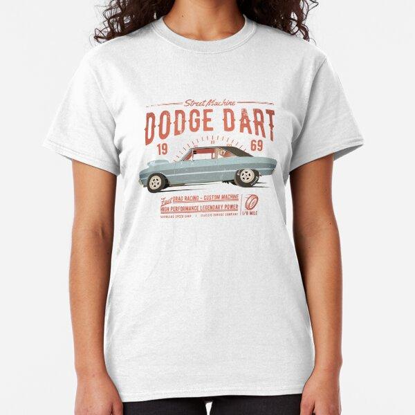1969 Blue Dodge Super Bee Custom Hot Rod Diner T-Shirt 69 Muscle Car Tees