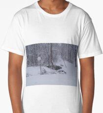 winter snow scene Long T-Shirt