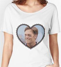 Patriots Tom Brady Heart Women's Relaxed Fit T-Shirt