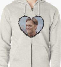 Patriots Tom Brady Heart Zipped Hoodie