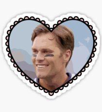 Patriots Tom Brady Heart Sticker