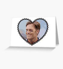 Patriots Tom Brady Heart Greeting Card