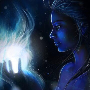 Dark Blue - Fantasy Digital Painting by MoonpixStudios