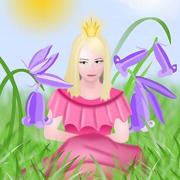 Little blonde princess wearing pink by skyfish