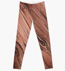 Watercolor Wood - natural Leggings