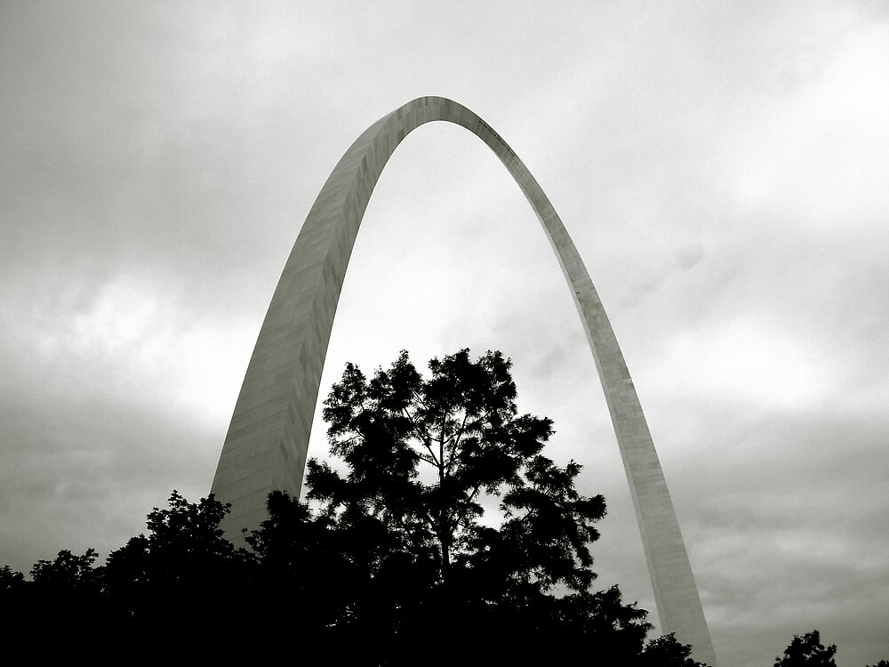 the Arch from the Levee by Jerry Carpenter