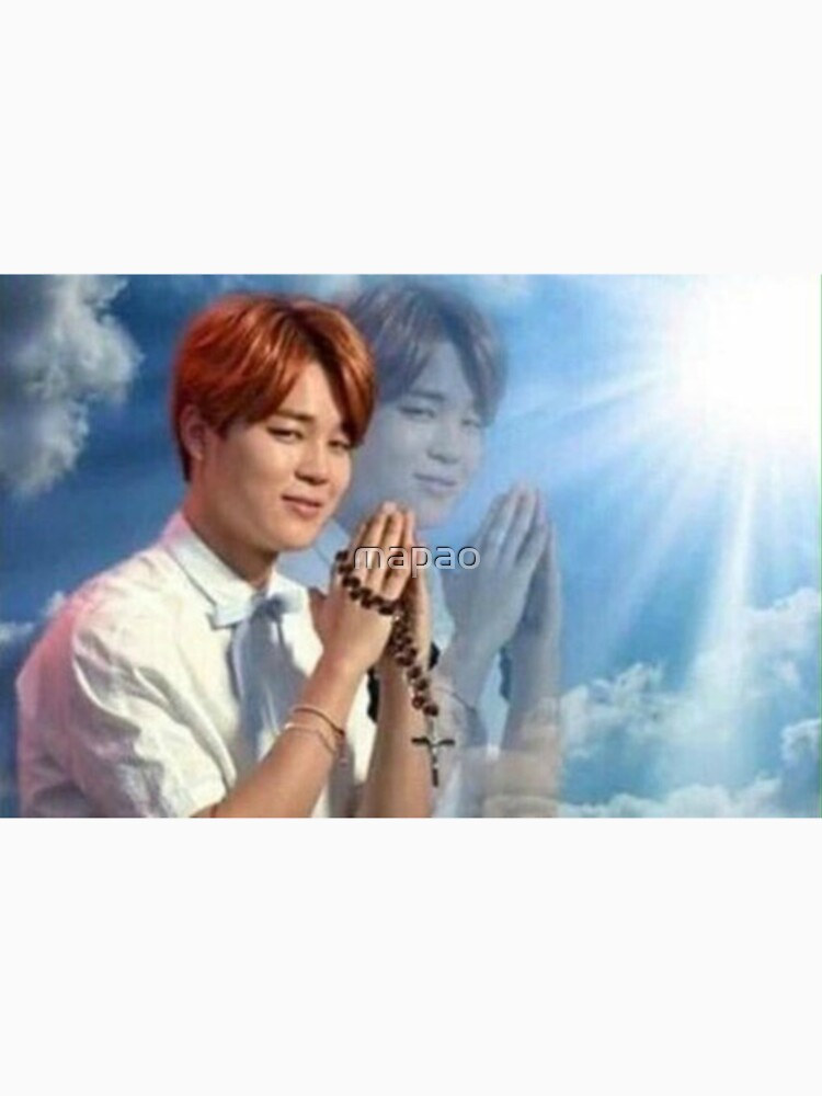 BTS Jimin meme de oración de mapao