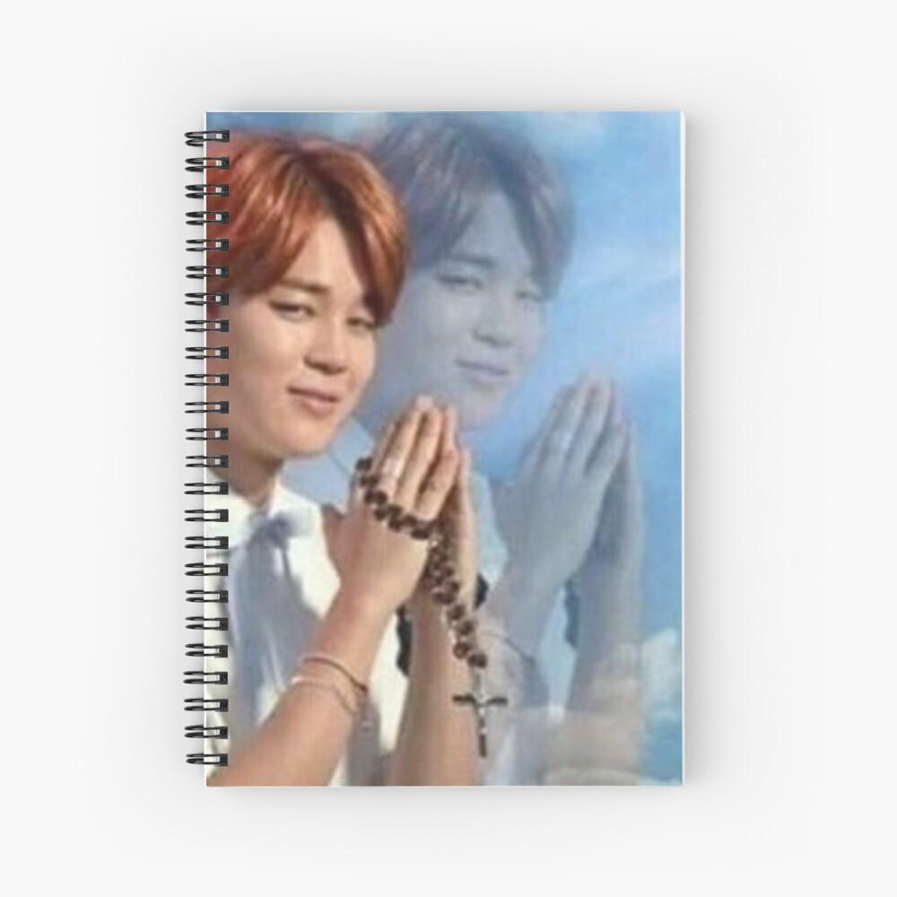 BTS Jimin meme de oración Cuaderno de espiral