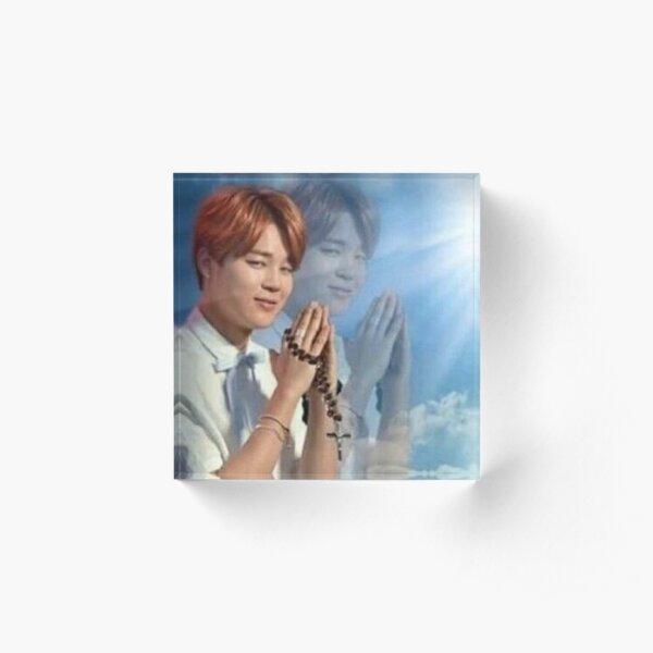 BTS Jimin Praying meme Acrylic Block