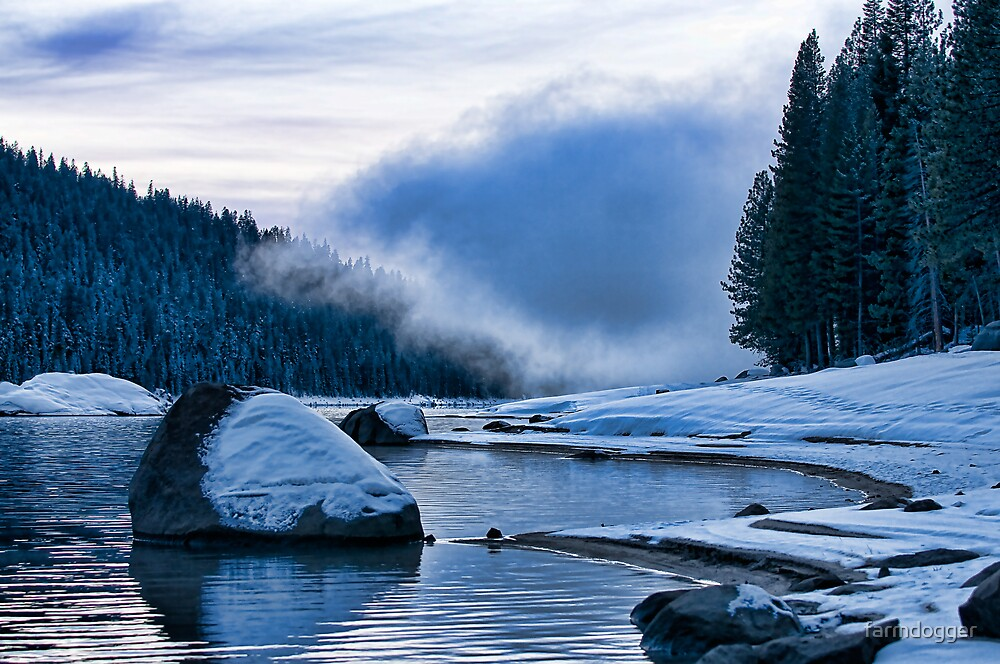 Lake Fog Color by farmdogger
