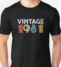 Vintage 1981 - 37th Birthday Unisex T-Shirt