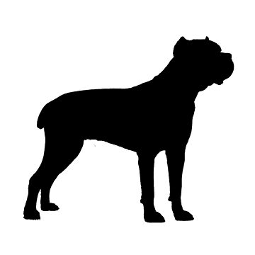 cane corso silhouette by marasdaughter