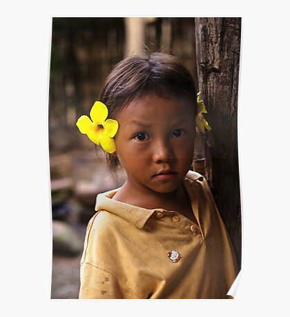Hmong Flower Girl Poster