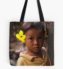Hmong Flower Girl Tote Bag