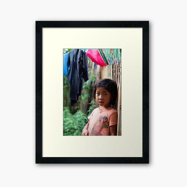 Hmong Girl Framed Art Print