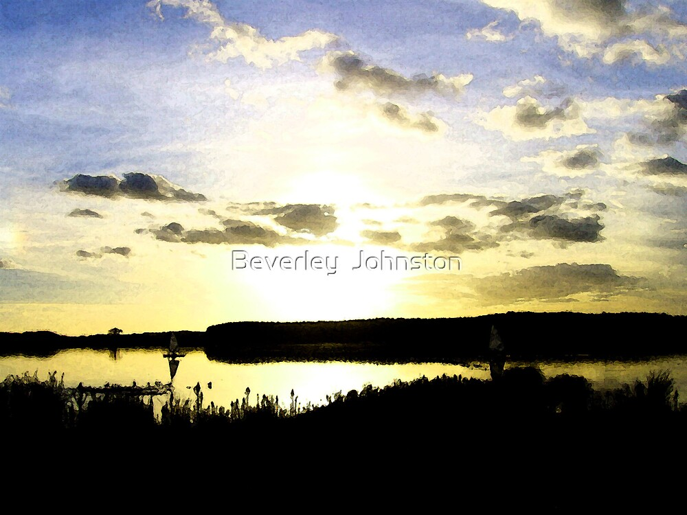 The Twilight lake by Beverley  Johnston