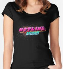 Hotline Miami ! Women's Fitted Scoop T-Shirt