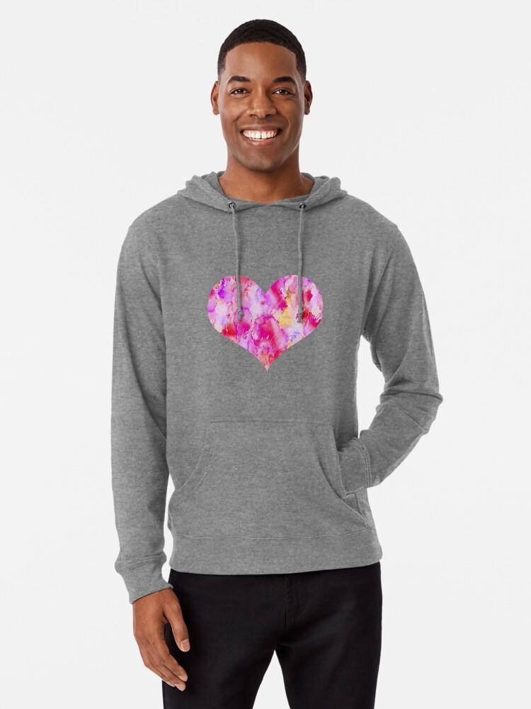 Alternate view of My Valentine Heart Lightweight Hoodie