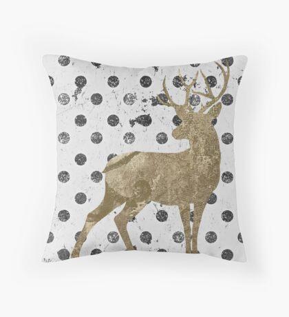 Forest Glam Deer Throw Pillow