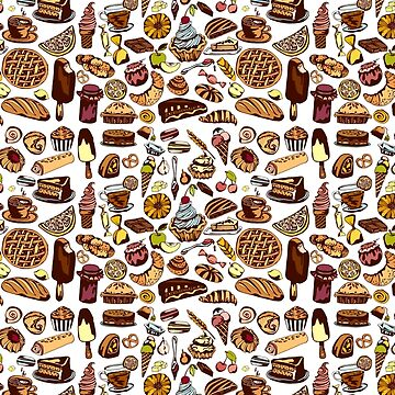 pastry colorful pattern by lisenok