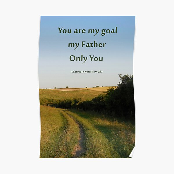 Spiritual goal poster and card Poster
