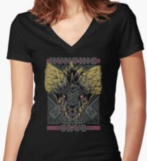Hunting Club: Nergigante Women's Fitted V-Neck T-Shirt