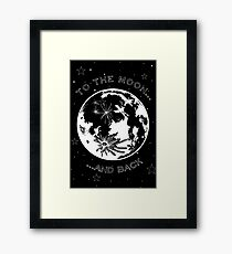 To the Moon and back - Valentines Card Framed Print