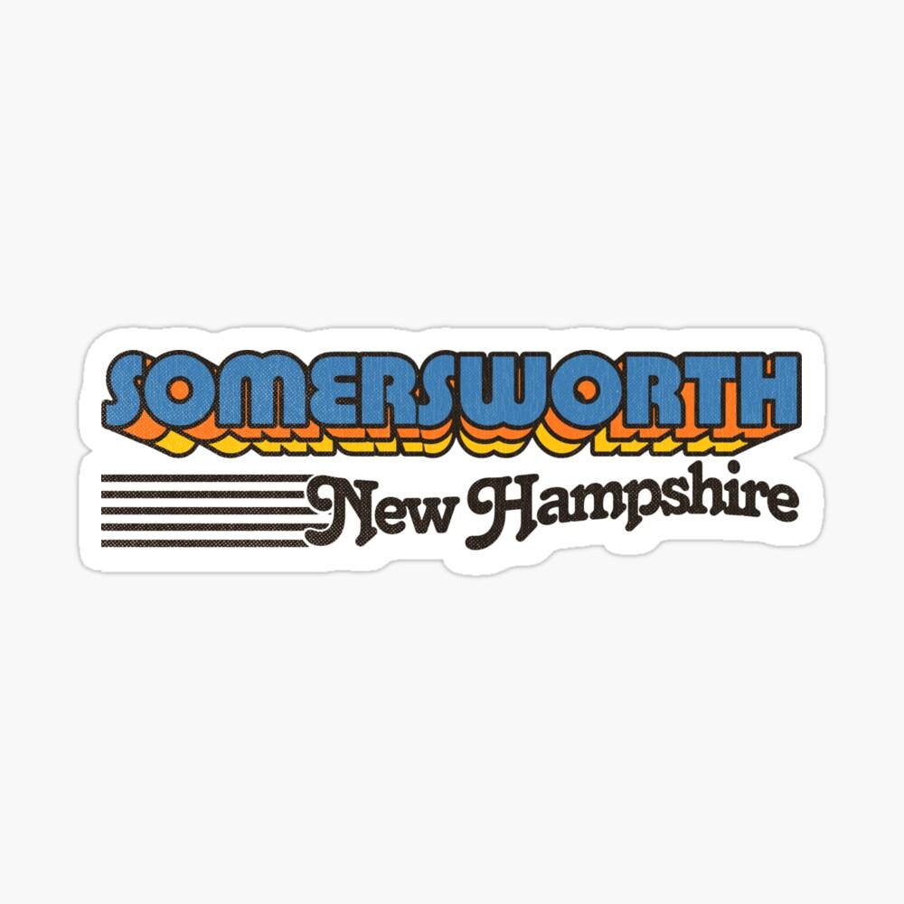 Somersworth, New Hampshire   Retro Stripes Sticker