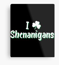 I Love Clover Shenanigans Gift For Paddys St Patricks Day T-Shirt Sweater Hoodie Iphone Samsung Phone Case Coffee Mug Tablet Case Metal Print