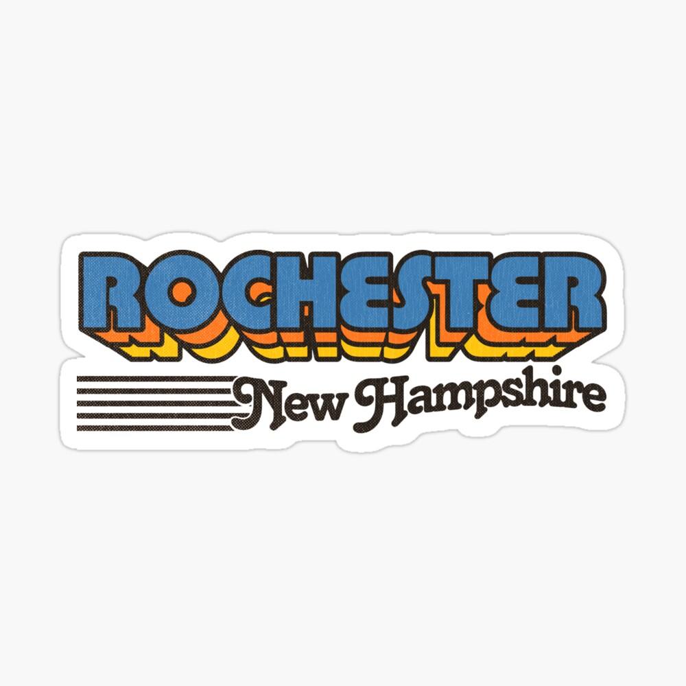 Rochester, New Hampshire   Retro Stripes Sticker