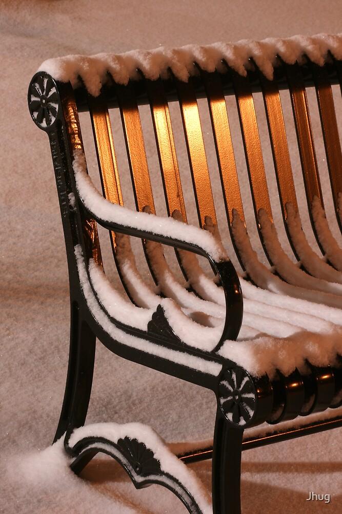 Snowy Bench by Jhug